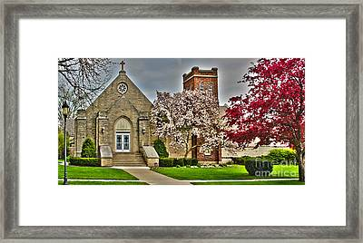 Zion Lutheran Church Framed Print by Jack Schultz