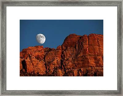 Zion Moonrise Framed Print by David Yunker