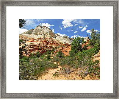 Zion National Park - A Picturesque Wonderland Framed Print by Christine Till