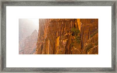 Zion Storm Framed Print by Adam Pender