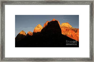 Zion The Great Wall Framed Print by Bob Christopher