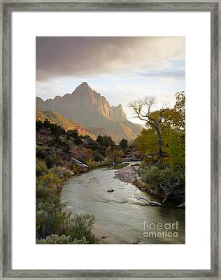 Zion View Framed Print by Idaho Scenic Images Linda Lantzy