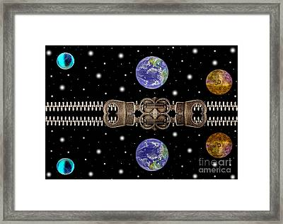 Zip And Planets Framed Print by Odon Czintos
