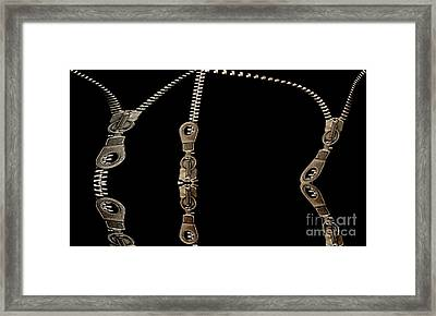 Zippers Reflections Framed Print by Odon Czintos