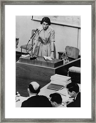 Zivia Lubetkin 1914-1976, Testifying Framed Print by Everett