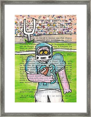 Zombie Football Framed Print by Jera Sky