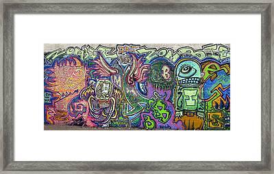 Zombie Monster Family Framed Print by Travis Burns