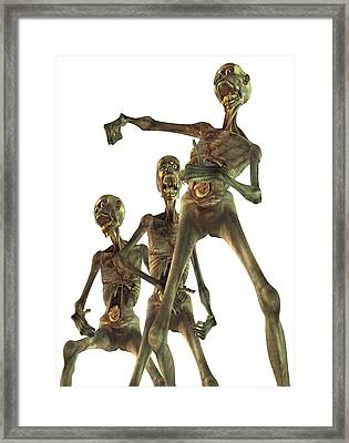 Zombies, Artwork Framed Print by Victor Habbick Visions
