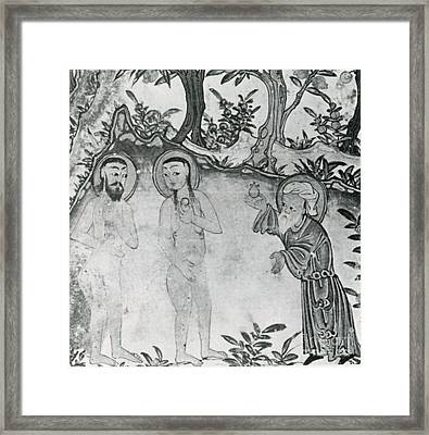 Zoroastrian Adam And Eve With Angra Framed Print by Science Source