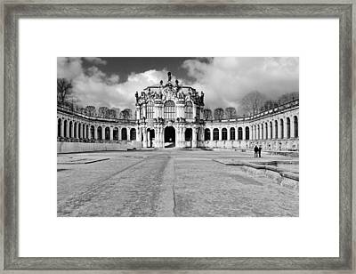 Zwinger Dresden Rampart Pavilion - Masterpiece Of Baroque Architecture Framed Print by Christine Till