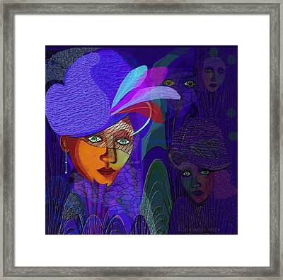 048 - Electric Blue ...  Framed Print by Irmgard Schoendorf Welch