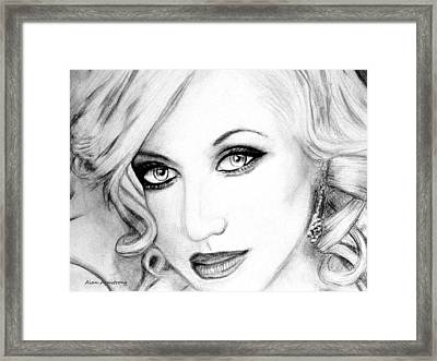 # 2 Christina Aguilera Portrait  Framed Print by Alan Armstrong