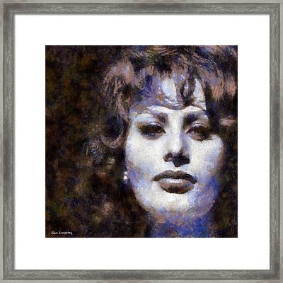 # 2 Sophia Loren Portrait Framed Print by Alan Armstrong