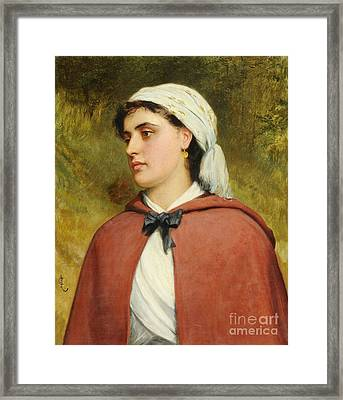 A Country Girl Framed Print by Charles Sillem