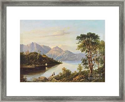 A Highland Loch Landscape Framed Print by Charlotte Nasmyth