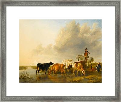 A Summer Evening Framed Print by Thomas Sidney