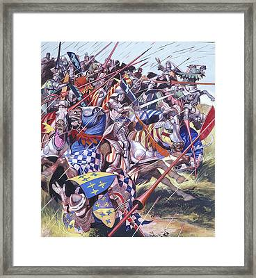 Agincourt The Impossible Victory 25 October 1415 Framed Print by Ron Embleton