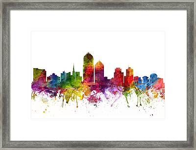 Albuquerque Cityscape 06 Framed Print by Aged Pixel