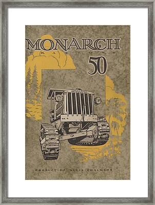 Allis Chalmers Monarch Tractor Vintage Poster Framed Print by American School