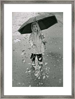 ... Another Rainy Day  Framed Print by Gwyn Newcombe