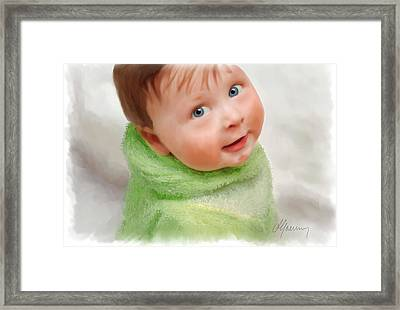 Baby Blue Eyes Framed Print by Michael Greenaway
