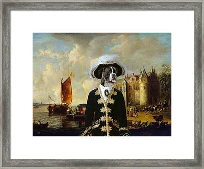 Boxer Art Canvas Print - For King And Queen Framed Print by Sandra Sij