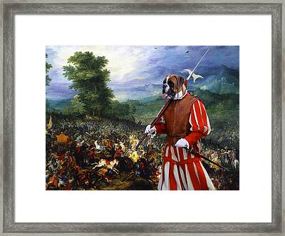 Boxer Art Canvas Print - Gathering Before The Battle Framed Print by Sandra Sij