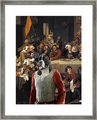 Boxer Art Canvas Print - The Banquet Framed Print by Sandra Sij