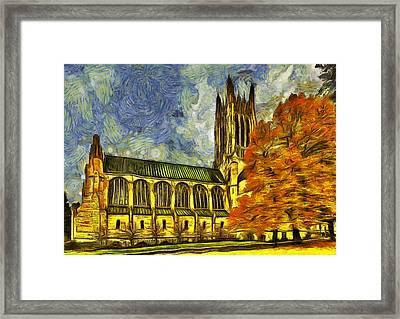 Cathedral Of St. John The Evangelist Framed Print by Mark Kiver