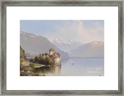 Chillon Castle Framed Print by Hubert Sattler
