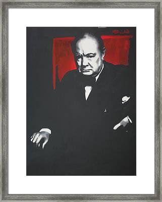 - Churchill - Framed Print by Luis Ludzska