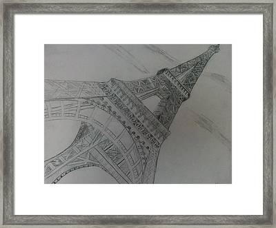 City Of Lights Framed Print by Nura Abuosba