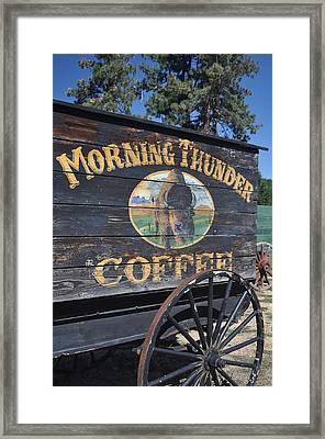 Coffee Wagon Framed Print by Brent Easley