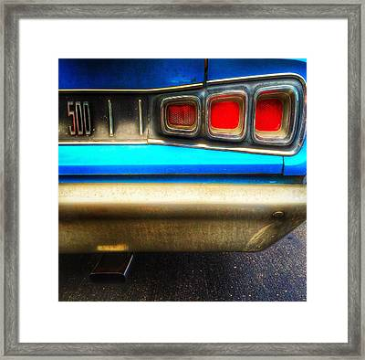 Coronet 500 Rear Framed Print by Jame Hayes