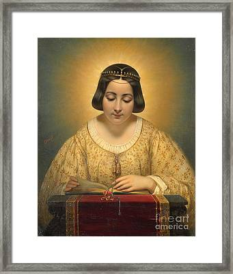 Court Countess De Pages Framed Print by Josepg Desire