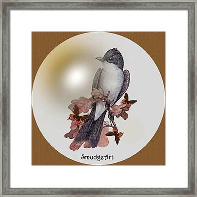 Eastern Kingbird Framed Print by Madeline  Allen - SmudgeArt