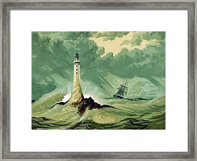 Eddystone Lighthous Framed Print by English School