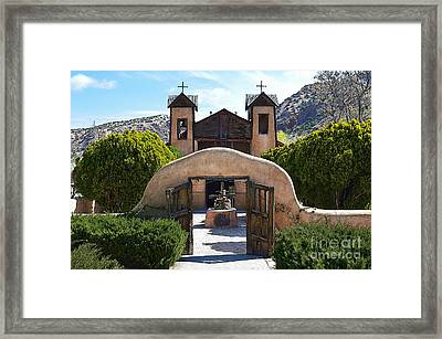 El Santuario De Chimayo In New Mexico Framed Print by Catherine Sherman