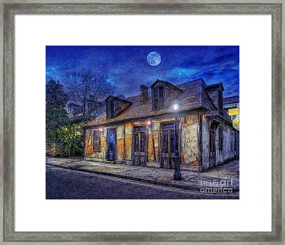 Evening At The Blackmiths Framed Print by Ian Mitchell