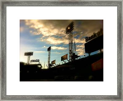 Fenway Lights Fenway Park David Pucciarelli  Framed Print by Iconic Images Art Gallery David Pucciarelli