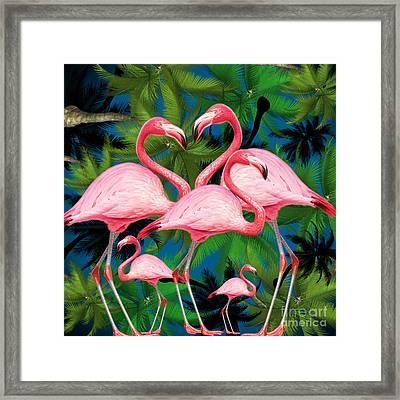 Flamingo Framed Print by Mark Ashkenazi