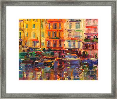 Grand Harbour  Cannes Framed Print by Peter Graham
