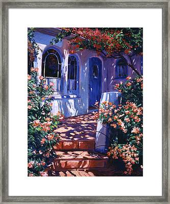 Greek Poets Cottage Framed Print by David Lloyd Glover