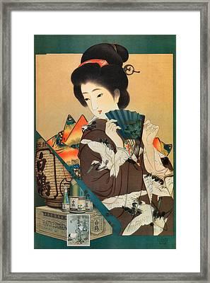 Hakutsuru Sake  Framed Print by Oriental Advertising