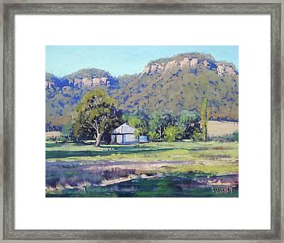 Hartley Bluffs Framed Print by Graham Gercken