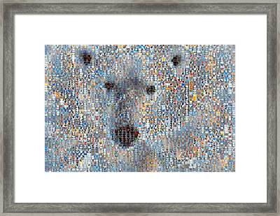 Holiday Hearts Polar Bear Framed Print by Boy Sees Hearts