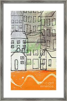 Houses By The River Framed Print by Linda Woods