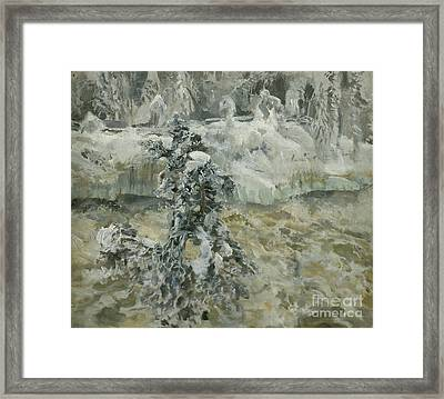 Imatra In Wintertime Framed Print by MotionAge Designs