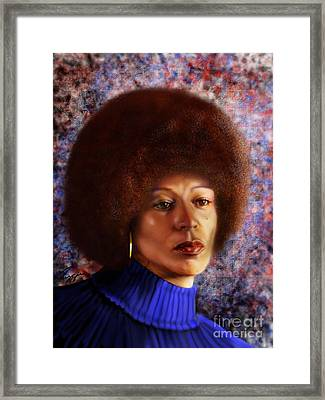 Impassable Me - Angela Davis1 Framed Print by Reggie Duffie