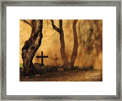 Shadow Of The Past Framed Print by Feva Fotos